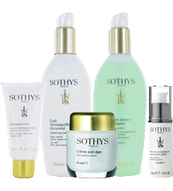 Sothys skin care products, facials, acne products, lotions, moisturizing